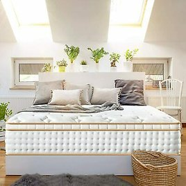 BedStory Mattress 12 Inch Gel Infused Memory Foam Cal King Size Pocket Coil Bed
