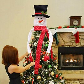 Snowman Decoration Christmas Tree Topper Holiday-Decor Xmas Party Ornament Large