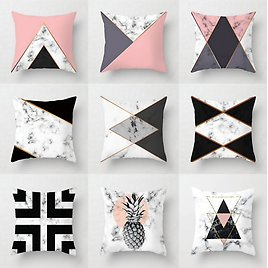 Aesthetic Decorative Pillow Cases!! Marble Pattern Flower Designer Cushion Cover
