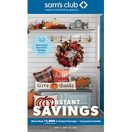 Up to $3800 Off September Instant Savings Book (Sep 01-Sep 26)