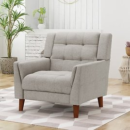 """Ulises 32.28"""" W Tufted Polyester Armchair"""