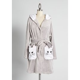A Pocketful of Purrs Hooded Robe