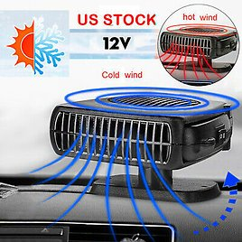 12V Portable Car Heater DC Auto Electric Heating Cooling Fan Defroster Demister