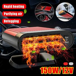 150W Car Auto Portable Electric Heater Heating Cooling Fan Defroster Demister
