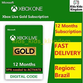 Xbox Live Gold 12 Month Membership - Xbox One 360 BRAZIL VPN Required 885370612769