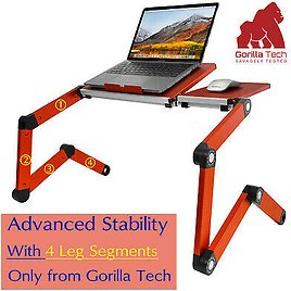 Foldable Laptop Desk Sofa Stand Adjustable Folding Bed Table Couch Floor