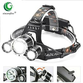 US $10.06 53% OFF 3 Led Rechargeable Led Headlamp 5000LM Head Lamp Torch Headlights Lantern Waterproof Bulbs Xml T6 Lithium Ion Use 18650 Battery Headlamps  - AliExpress