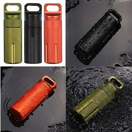 US EDC_Waterproof Pill Case Capsule Seal Bottles Container Box Outdoor Survival