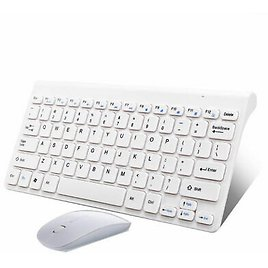 USB 2.4Ghz Wireless Keyboard and Mouse Combo Slim for PC Laptop Desktop Silver