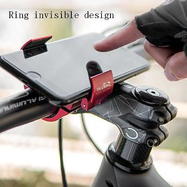 Annular Invisible Bicycle Phone Holder Aluminium Alloy Bicycle Mobile Phone Racks Portable Cycling Phone Mount Bike Accessories