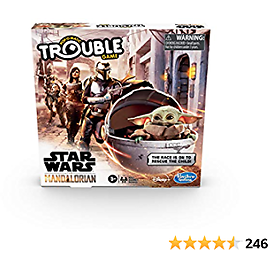 Hasbro Gaming Trouble: Star Wars The Mandalorian Edition Board Game for Kids Ages 5 and Up