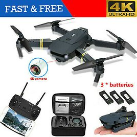 4K Mini Drone Selfie WIFI FPV With HD Camera Foldable Arm RC Quadcopter Toy Gift
