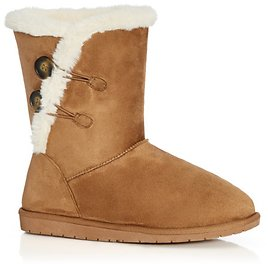 Zoey Fur Lined Suede Boot - Tan