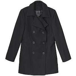 Larry Levine Women's Double-Breasted Peacoat
