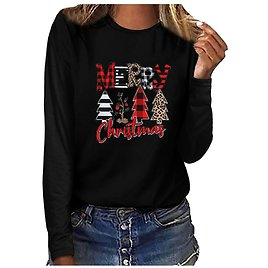 US $3.58 38% OFF|Merry Christmas Women Tshirts Harajuku Graphic Plus Size Tee Shirts Casual Long Sleeve O Neck Pullover Mujer Camisetas|T-Shirts| - AliExpress