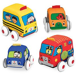 Melissa and Doug Kids' Pull-Back Vehicle Toys & Reviews