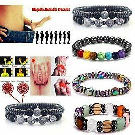 Magnetic Healing Therapy Bracelet Arthritis Hematite Weight Loss Pain Relief