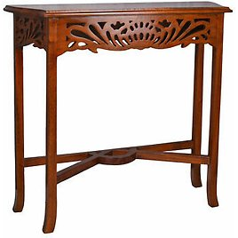 Wall Table Console Table Art Nouveau Wall Console Mahogany Wood Side Table New