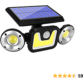 Solar Lights Outdoor With Motion Sensor, 83 LED COB Flood Lights,3 Heads Adjustable Wireless Security Lights,270° Wide Angle IP65 Waterproof Decorative Light for Garage Pathway Porch Garden Patio Yard