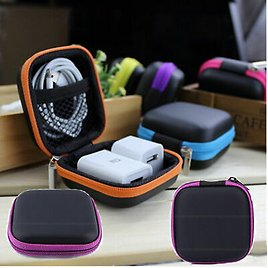 Mini For IPod IPhone 6 6s Headphone Headset Zipper Case Bag Storage Pouch Cover