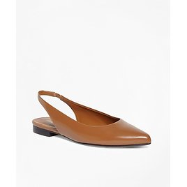 Patent Leather Sling-Back Flats - Brooks Brothers