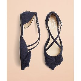 Shimmer Boucle Point-Toe Flats - Brooks Brothers