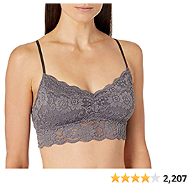 Amazon Brand - Mae Women's Lace Padded Bralette (for A-C Cups)