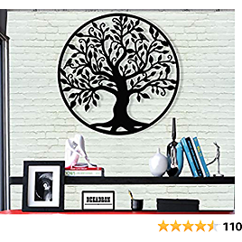 """DEKADRON Metal Wall Art - Tree of Life - Family Tree - 3D Wall Silhouette Metal Wall Decor Home Office Decoration Bedroom Living Room Decor Sculpture (23"""" W X 24"""" H/58x61cm)"""