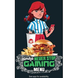 Wendy's Introduces 'Never Stop Gaming' Uber Eats Menu with Twitch Streamers and Prizes Including Game Consoles