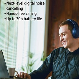 Sony Noise Cancelling Headphones Wireless Bluetooth Over The Ear Headset with Mic