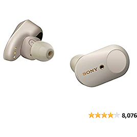 Sony WF-1000XM3 Industry Leading Noise Canceling Truly Wireless Earbuds Headset/Headphones with Alexa Voice Control