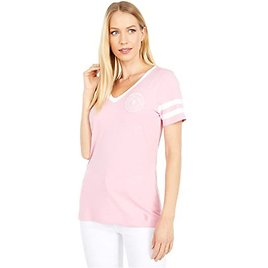 67% Off for U.S. POLO ASSN. Short Sleeve Striped Sleeve V-Neck Tee   6pm