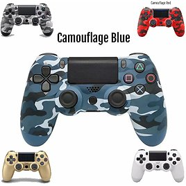 Wireless Vibrate Game Controller Handle Dual Double Shock for PlayStation 4 Camouflage Red