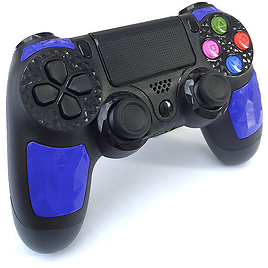 GLiving Controller Wireless Bluetooth Double Shock Controller Joystick Gamepad for PS4 with Touchpad and Audio Jack Black Blue
