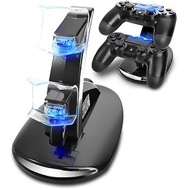 PS4 Controller Charger, Playstation 4 Charging Station for Sony PS4 / PS4 Pro / PS4 Slim DualShock 4 Controller, Dual USB Fast C