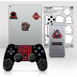 """Controller Gear Officially Licensed God of War Dualshock 4 Wireless Controller and Tech Skin Set """"Vertical Tapestry"""""""