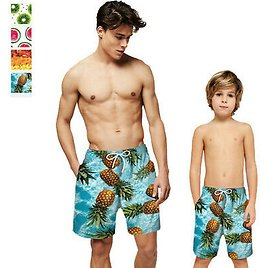 Mens Kids Board Shorts Swim Trunks Lining Quick Dry Bathing Suit Pockets Holiday