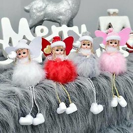 US Christmas Cute Angel Doll Pendant Xmas Tree Hanging Ornament Party Decor Gift