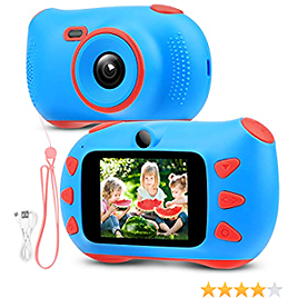 RUMIA Kids Camera,1080P Children Digital Video Cameras,Shockproof Video Recorder for Boys and Girls,Portable Rechargeable Toddler Video Recorder Blue (Blue B)