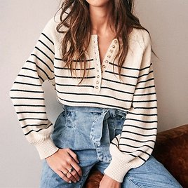 US $13.25 61% OFF Colorfaith New 2020 Autumn Winter Women Sweater V Neck Buttons Knitted Pullovers Striped Casual Fashionable Wild Tops SW6154 Pullovers  - AliExpress