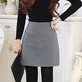 US $9.45 33% OFF Females Empire Solid Skirts Women Casual Mini Black Gray Mini Skirts 2019 Winter Chic A Line Fashion Female Casual Skirts Skirts  - AliExpress