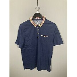 TED BAKER Polo Shirt - Size 7 XXXL - Navy - Great Condition - Men's
