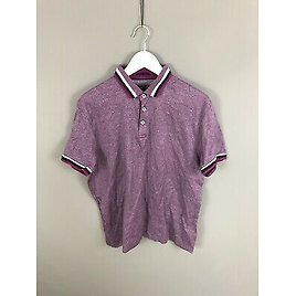 TED BAKER Polo Shirt - Size 5 XL - Purple - Great Condition - Men's