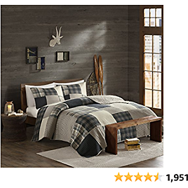 """Woolrich 100% Cotton Quilt Reversible Plaid Cabin Lifestyle Design All Season, Breathable Coverlet Bedspread Bedding Set, Matching Shams, Full/Queen(92""""x96""""), Winter Hills, Tan, 3 Piece"""