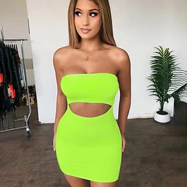 US $4.99 39% OFF|Summer Sexy Vintage Hollow Out Strapless Sheath Pencil Mini Dress Bodycon Club Casual Solid Color Women Clothing Dropshipping|Dresses| - AliExpress