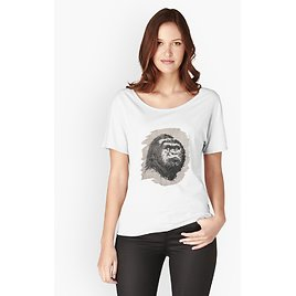 Gorilla Face Relaxed Fit T-Shirt