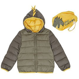 Epic Threads Little Boys Dinosaur Hooded Full Zip Packable Jacket with Matching Bag & Reviews - Coats & Jackets - Kids