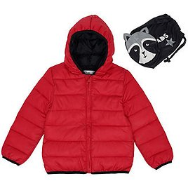 Epic Threads Little Boys Solid Hooded Full Zip Packable Jacket with Raccoon Matching Bag & Reviews - Coats & Jackets - Kids