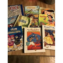 Lot Of 10 Disney Kids Childrens Books Hardcover/Softcover