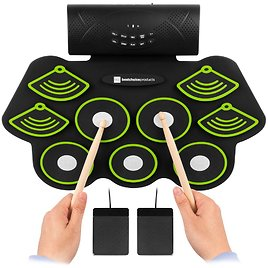 Best Choice Portable Electric 9-Drum Roll Up Pad - Rechargeable Battery